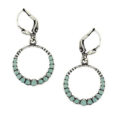 dfc5d0127 Amazon.com: Catherine Popesco Circle Earrings with Pacific Opal Stones:  Jewelry
