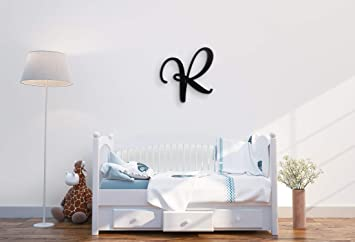 """18/"""" Capital Unpainted Connected Large Cursive Script Wall Name Wedding Baby"""