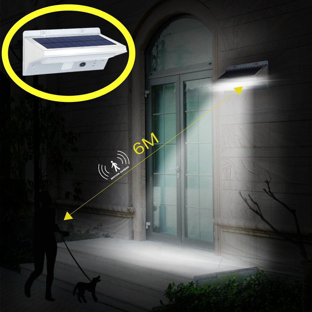 HowFine 21 LED Outdoor Solar Motion Sensor Light, Waterproof Wireless Stainless Steel Security LED light For Patio, Deck, Yard, Garden, Home, Driveway, Stair, Wall - 200 Lumens Max Super Bright [並行輸入品] B06XVR7PXQ 14476
