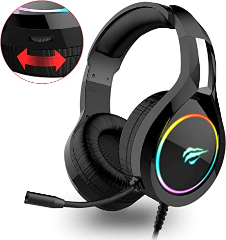 Auriculares Gaming PS4 HAVIT Iluminación RGB Cascos Gaming sonido ...