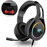 Auriculares Gaming PS4 HAVIT Iluminación RGB Cascos Gaming sonido envolvente, controlador de 50MM y micrófono con…