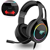 Havit Gaming Headset for PS4 Xbox One PC, RGB Gaming Headphones with 50MM Driver, Stereo Bass Surround Sound for Computer Laptop(H2011d,Black)