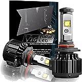 CougarMotor 9006 LED Headlight Bulbs All-in-One Conversion Kit, 7200 Lumen (6000K Cool White)
