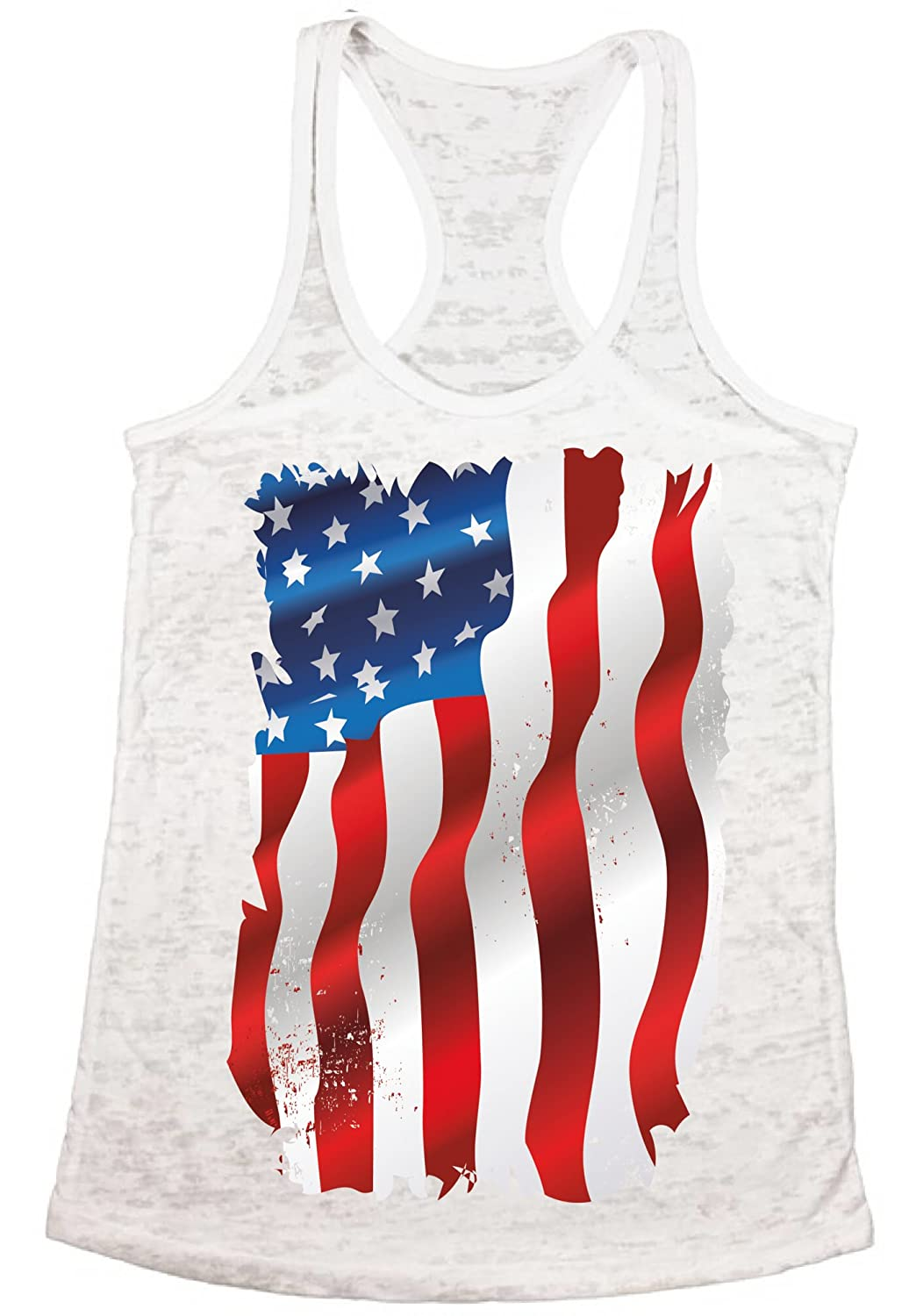 f21b90cd533 Celebrate your patriotic feelings with Burnout Tank Tops on the  Independence Day. This distressed flag logo Burnout Tank Tops is great for  a Fourth of July ...
