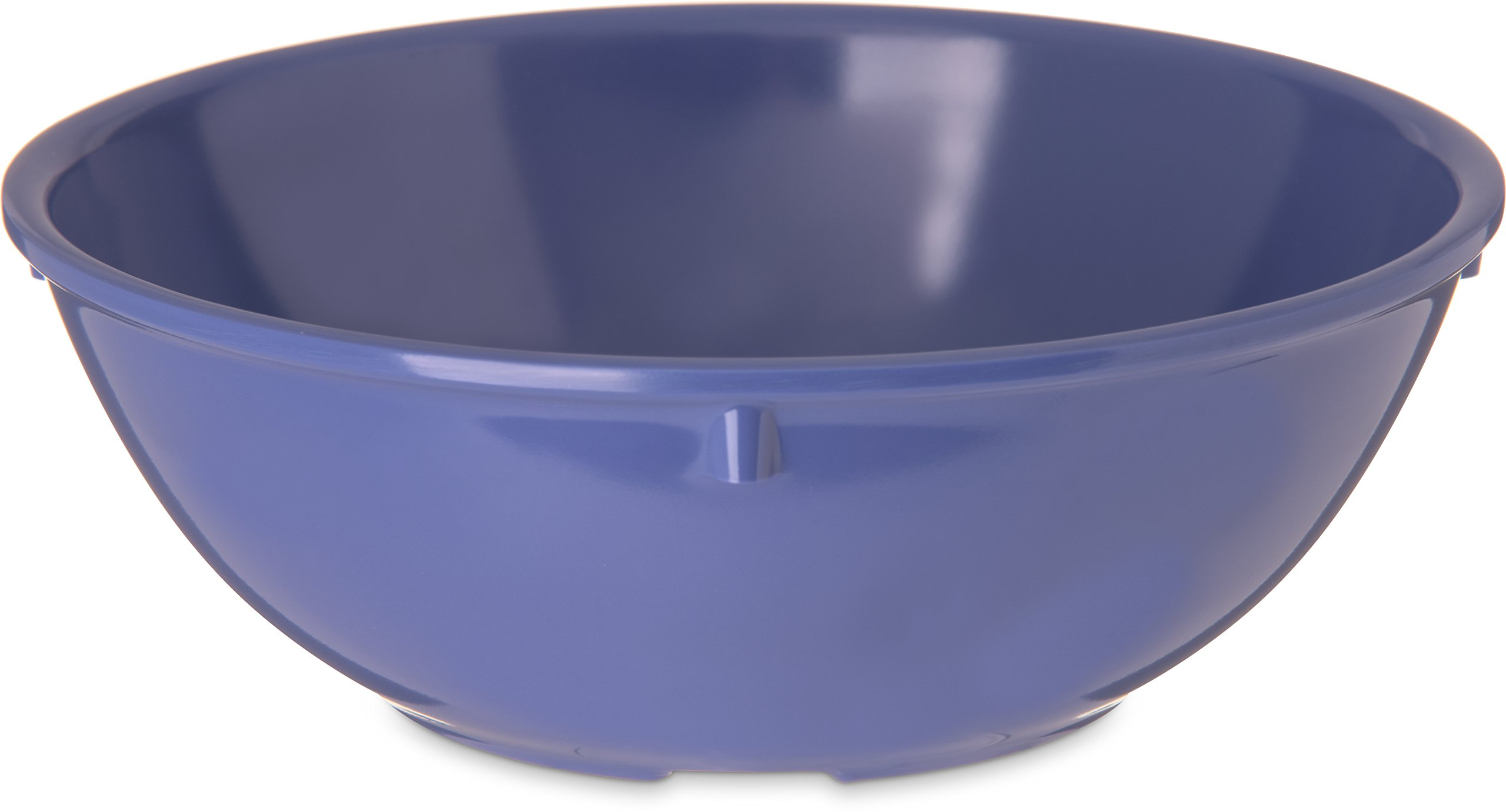 Carlisle 4352114 Dallas Ware Melamine Nappie Bowl, 14oz Capacity, 5.45'' Diameter x 1-15/16'' Height x 1-15/16'' Depth, Ocean Blue (Case of 48)