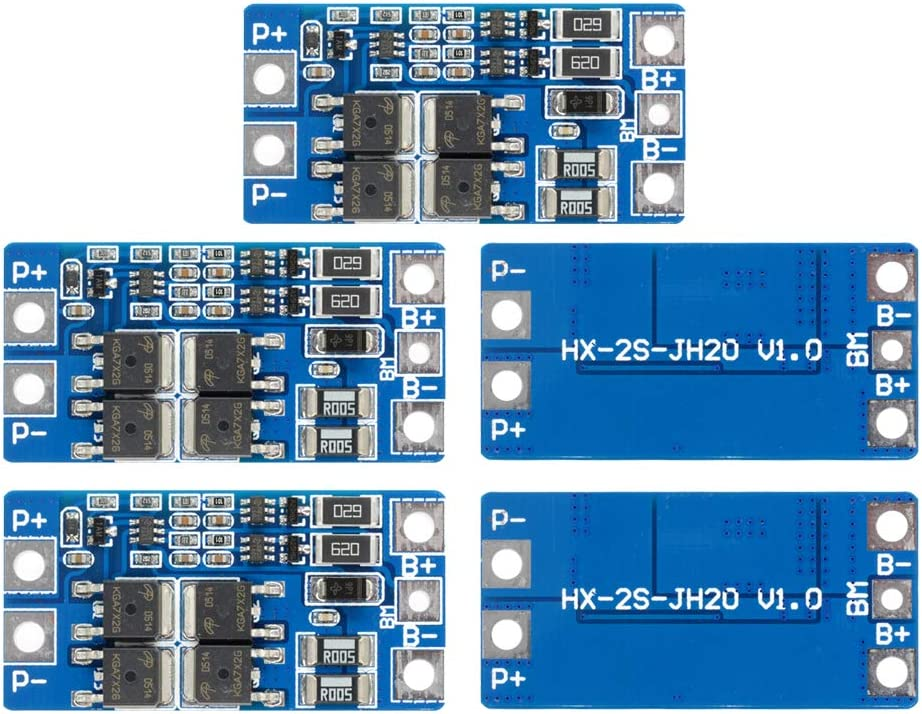 2 Cells Li-ion Battery Protection Boards 18650 Li-Po 1-10A BMS PCB Pack Lithium