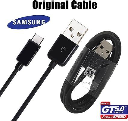 Samsung Kabel Original Galaxy S8 Und S8 Edge mit USB C Modell ep dg950CBE Schwarz Black in Bulk