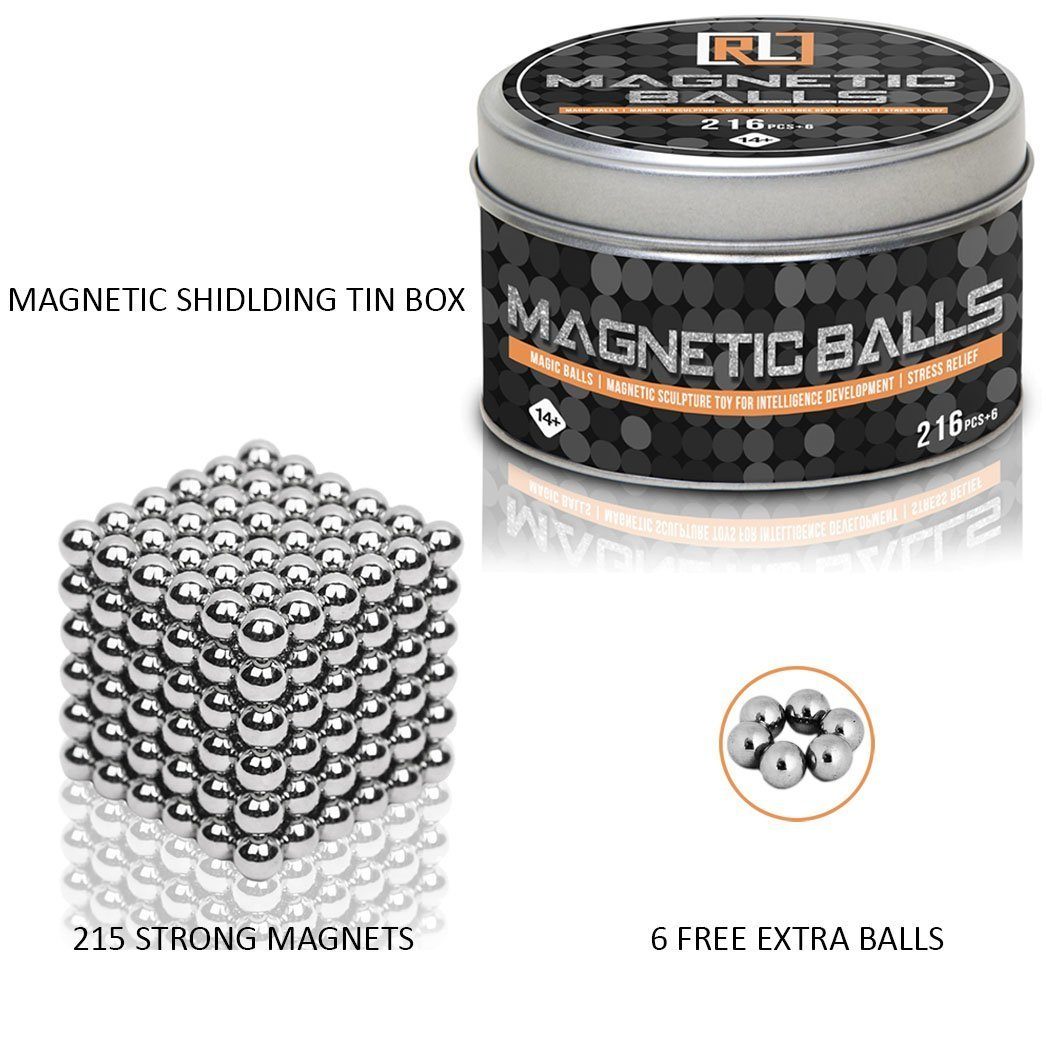 R&L Magnetic Sphere 216 PCS + 6 Magic Building Blocks Educational Fidget Toy Rollable Magnets Fidget Toys for Anxiety Stress Relief by R&L (Image #4)