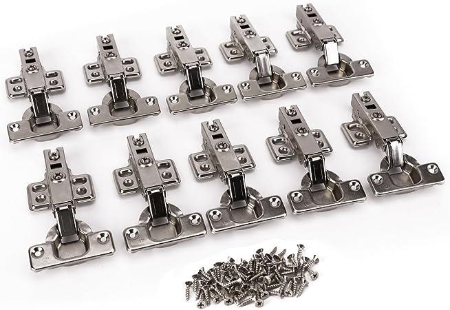 4/X v/érins Cabinet Porte de placard Charni/ère Fermeture douce 120/Nm avec vis