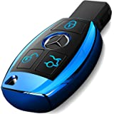 Intermerge for Mercedes Benz Key Fob Cover, Premium Soft TPU Key Case Cover Compatible with Mercedes Benz C E S M CLS…