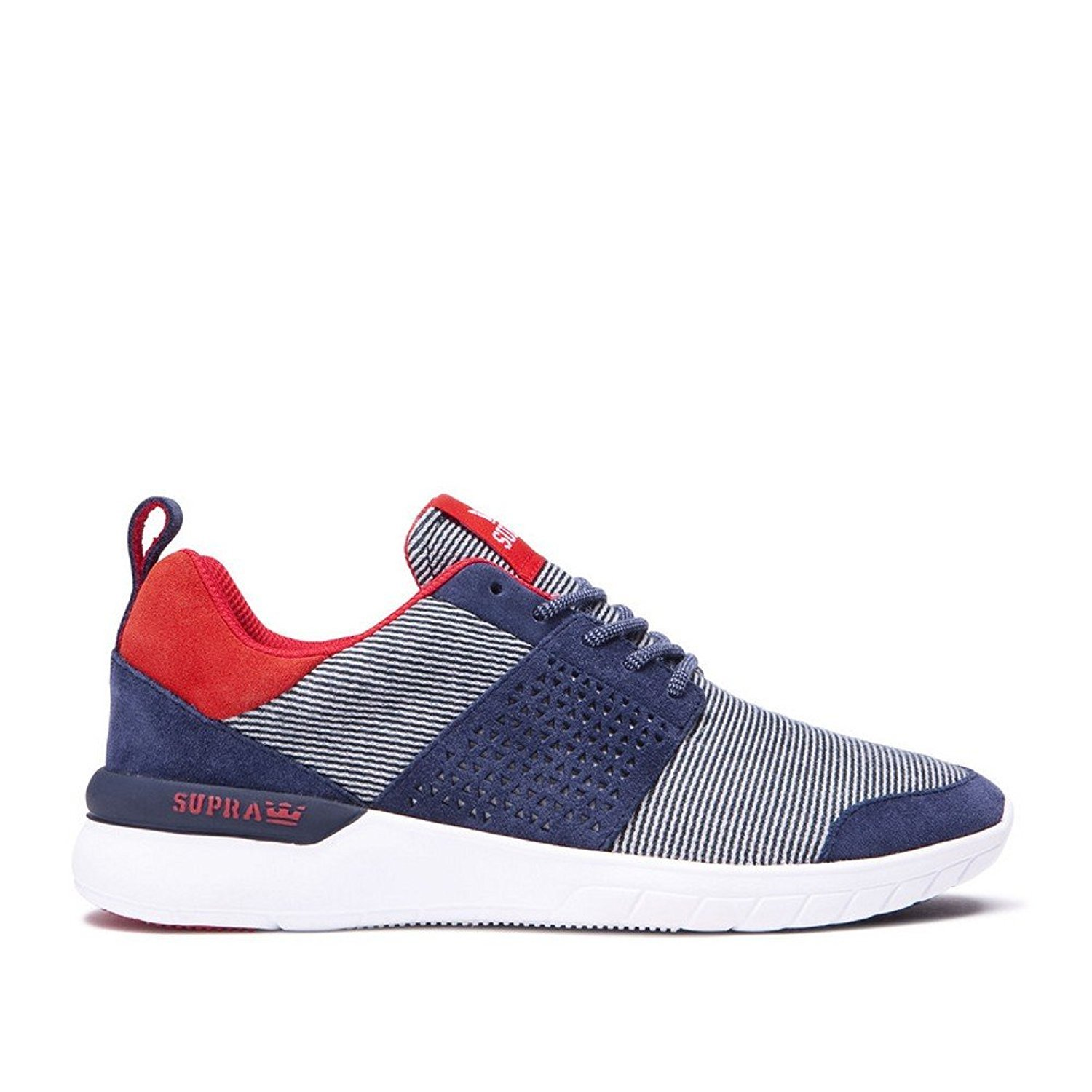 Supra Women's Scissor '18 Shoes B01MECZD8K 7.5 M US|Navy / Red - White