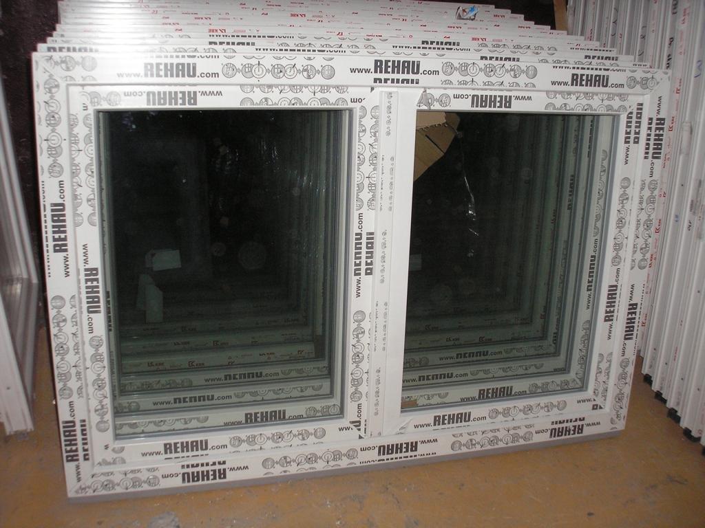 Frisch Kunststofffenster 150 x 100 (b x h), Rehau, 2 flügelig, weiss  YM11