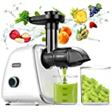 Juicer Machines, WOWDSGN Slow Masticating Juicer, BPA Free Slow Juicer Easy to Clean, Cold Press Juicer Extractor with 2-Spee