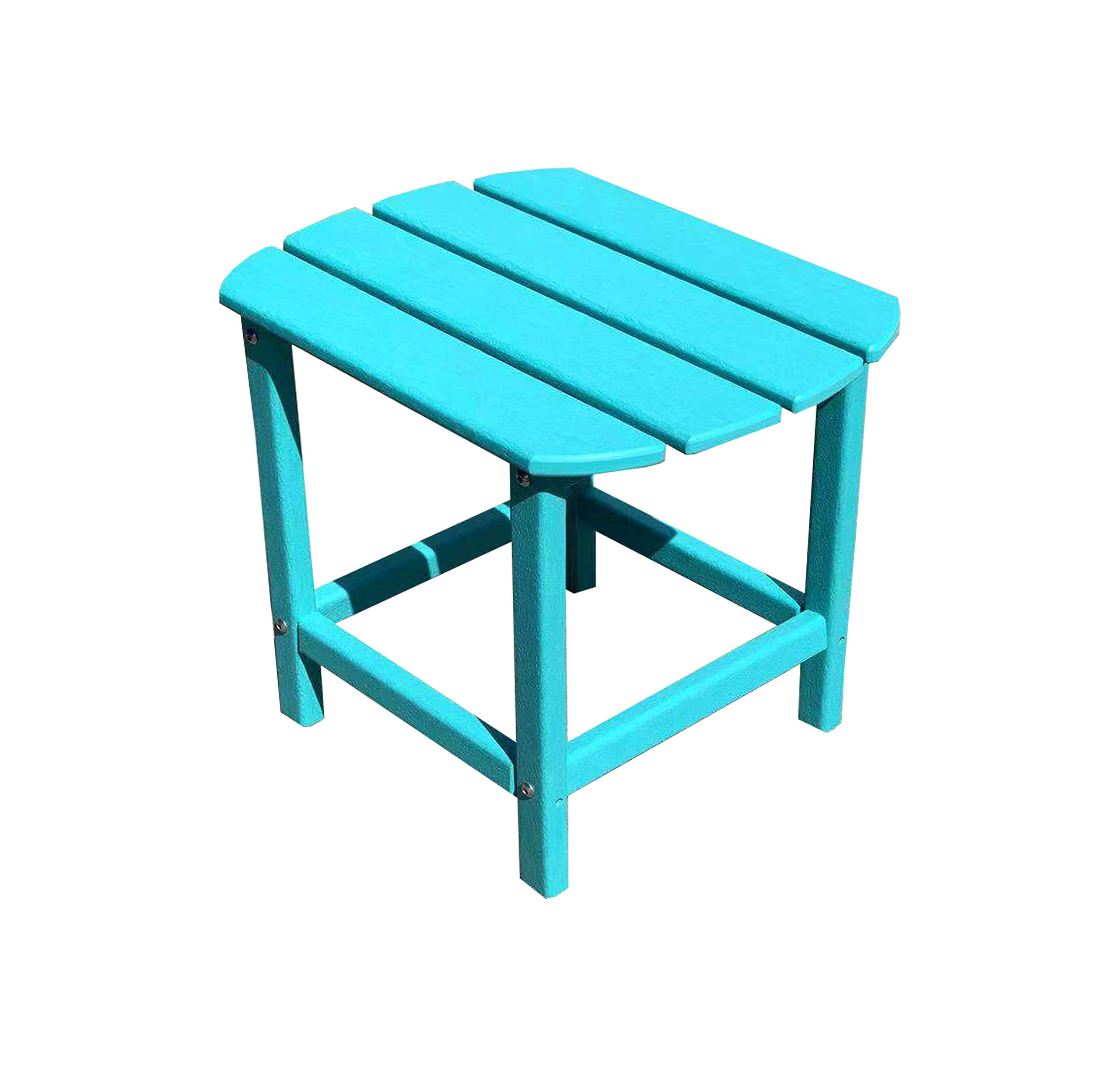 LuXeo LUX-1520-ABL-ST Corona Recycled Plastic Side Table, Aruba Blue by LuXeo