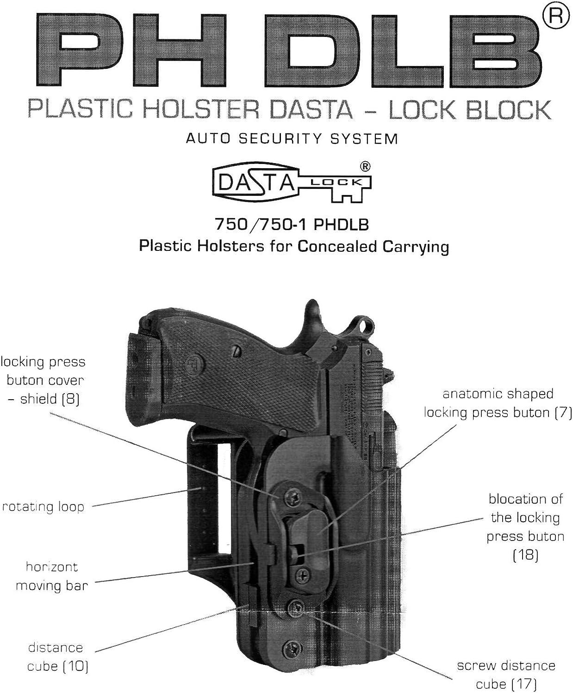 /Derecho BlackHawk CQC Holster CZ 75//85/