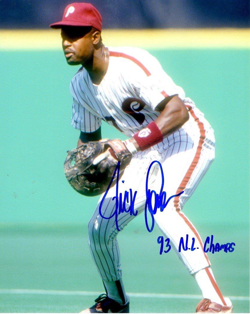 Autographed Ricky Jordan 8x10 Philadelphia Phillies Photo