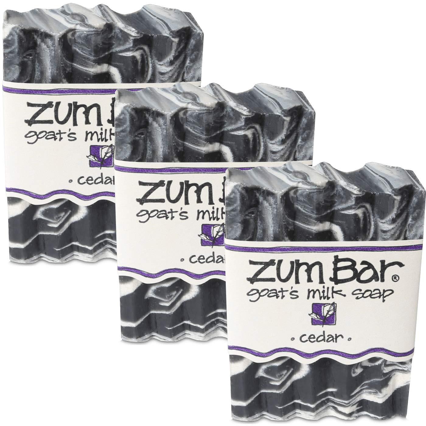 Indigo Wild: Zum Bar Goat's Milk Soap, Cedar 3 oz (3 pack)