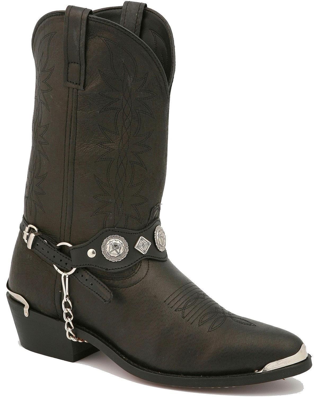Dingo Mens Black Pigskin Leather Suiter 12in Narrow Toe Cowboy Boots 6.5 D