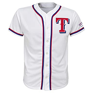 51830da08 Outerstuff Texas Rangers White Youth Team Apparel Home Jersey (X-Small 4 5