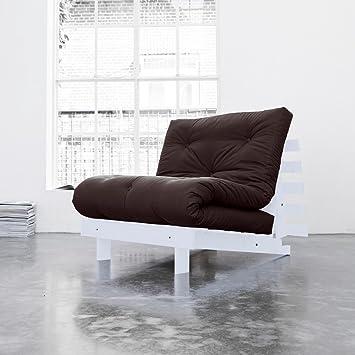 Brilliant de colchones Juego de berenjena Natural de algodón Futon colchón gris marco de madera Estructura
