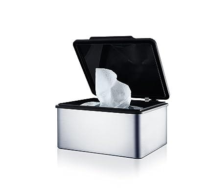 Blomus Menoto Caja para Toallitas Húmedas, Caja para Paños Húmedos, Acero Inoxidable Mate,