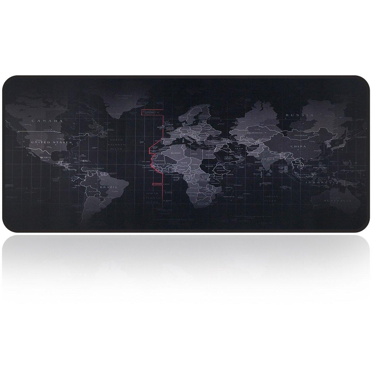 Large Gaming Mouse Map Pad With Nonslip Base|Extended XXL Size, Heavy|Thick, Comfy, Waterproof & Foldable Mat For Desktop, Laptop, Keyboard, Consoles & More|Enjoy Precise & Smooth Operating Experience