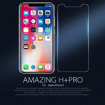 8e48a318288 Nillkin Amazing H+ Pro - Protector de pantalla 9H 2.5D cristal templado de  0,2mm para iPhone X: Amazon.es: Electrónica