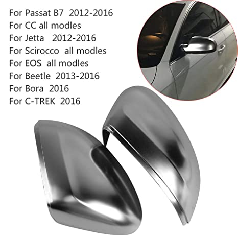 2pcs Silver ABS Chrome Side View Mirrors Replacement Caps Cover For VW Beetle Mirrors