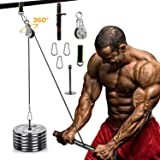 omotor Forearm Wrist Roller Trainer, Arm Strength Training Exerciser with Heavy Duty Pulley System for LAT Pulldowns…