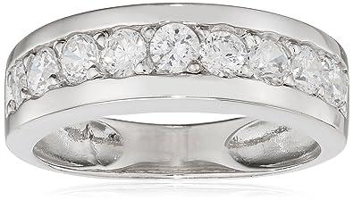 trouver le prix le plus bas moins cher profiter de prix pas cher Tous mes bijoux - Alliance - Argent 925 - Oxyde de Zirconium - BAMO01008
