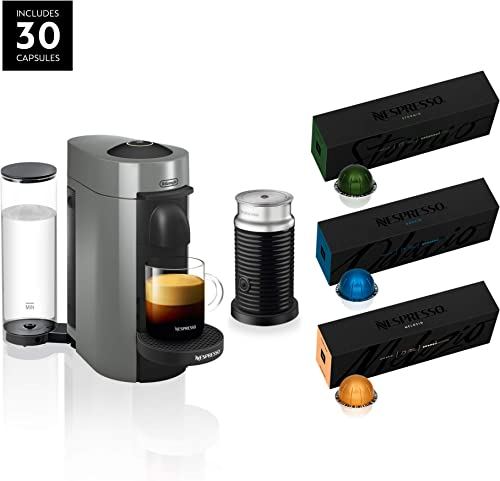 Nespresso ENV150GYAE VertuoPlus Coffee and Espresso Machine Bundle