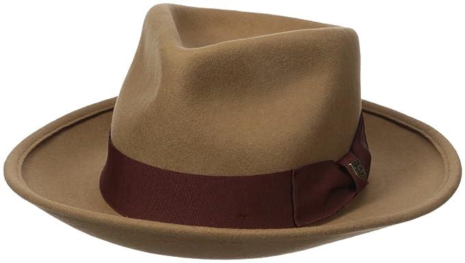 cb8f3da5063 Brixton Men s Swindle Fedora Hat  Amazon.in  Clothing   Accessories