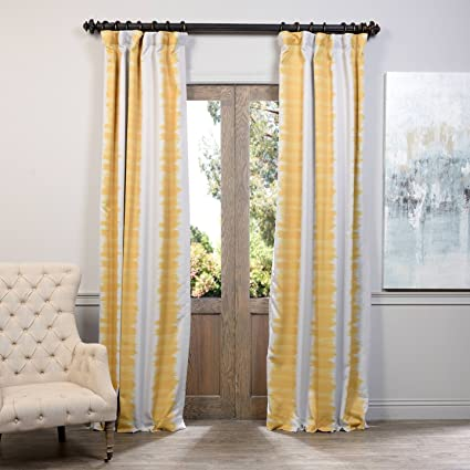 Half Price Drapes BOCH KC101D 84 Blackout Curtain Flambe Yellow