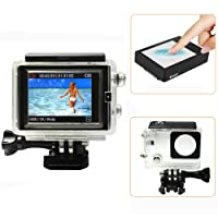 D&F Touch BacPac Set Touchable LCD Screen Monitor Display Viewer + Touchable Waterproof Protective Housing Case for Gopro 3+ 4