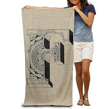 Arte en relieve letras F/talla única/de tacto suave para playa toallas de secado rápido de playa finas apto para las mujeres o los hombres: Amazon.es: Hogar