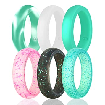 silicone wedding ring for women by doerdo durable rubber sport band for active style - Sports Wedding Rings