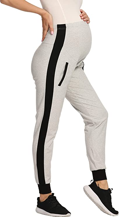 V VOCNI Maternity Pants Womens Quick Dry Lounge Joggers Pockets Cargo Sweatpants Casual Workout Clothes