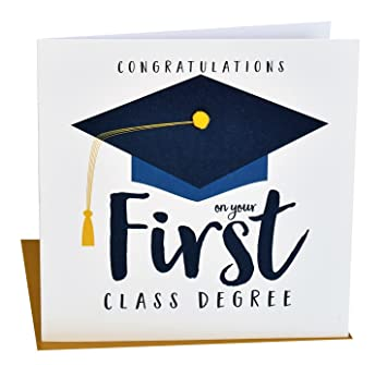 Charming Pom Pom U0026quot;Congratulations On Your First Class Degreeu0026quot; ... Idea First Class Degree