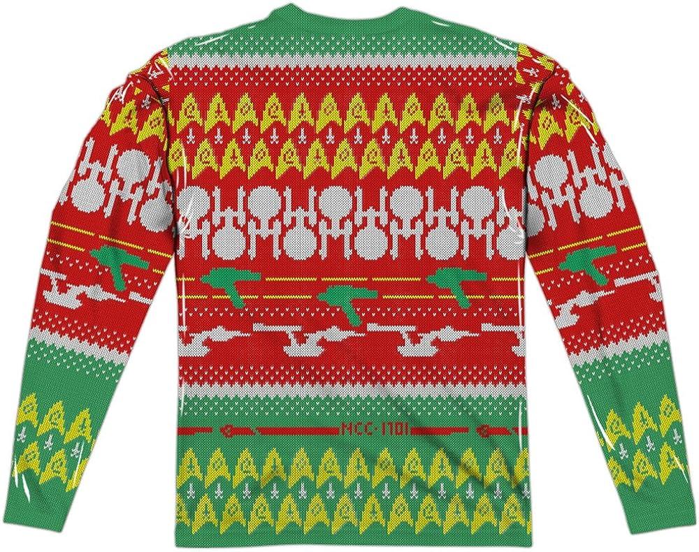 Star Trek Original Crew Allover Licensed Sublimation Adult Pullover Hoodie Shirt