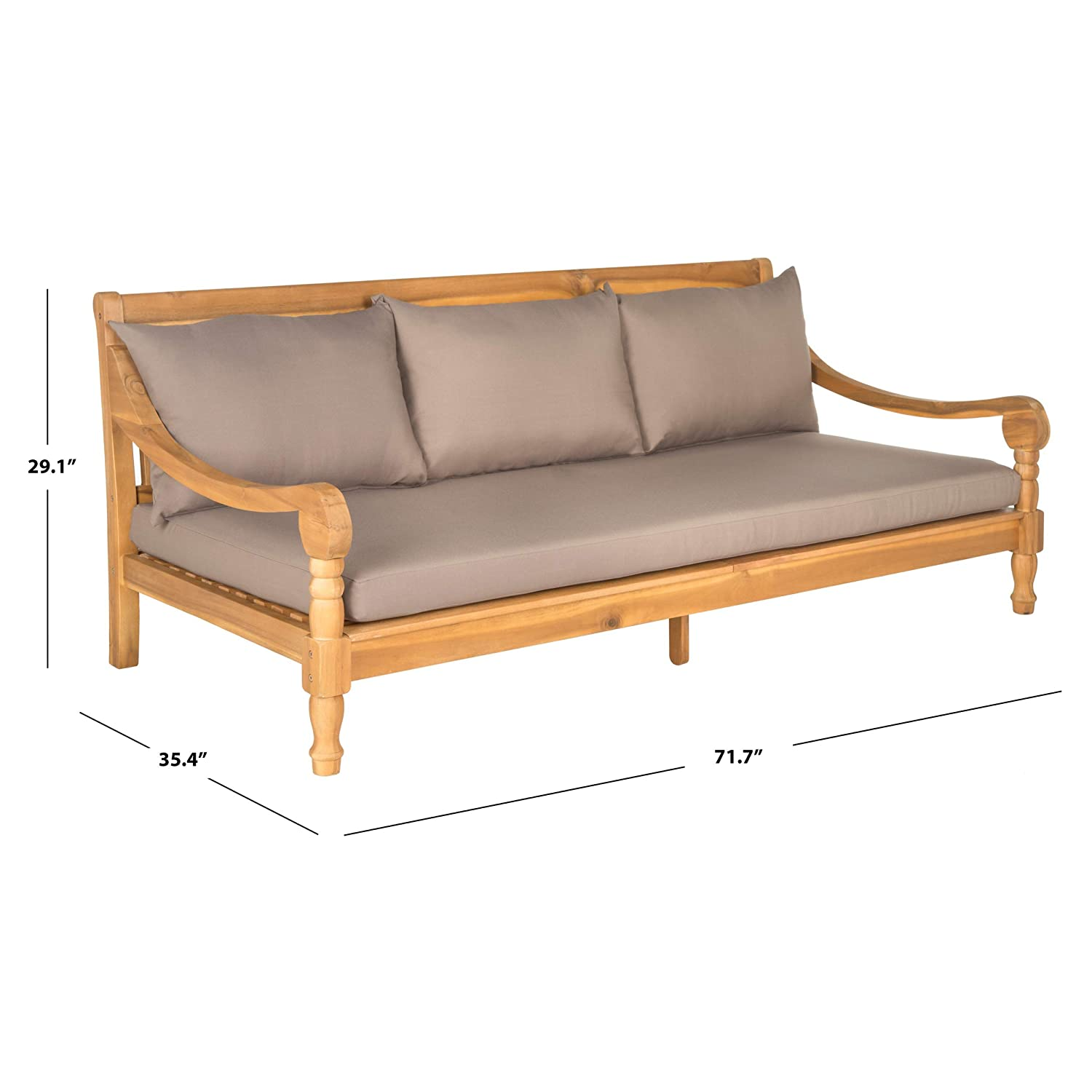 Amazon.com: Safavieh Outdoor Collection Pasadena Day Bed ...