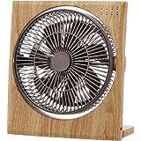 ドウシシャ ボックス扇風機 ボックスファン 折畳み機能 19cm ピエリア ナチュラルウッド FBS-191D NWD