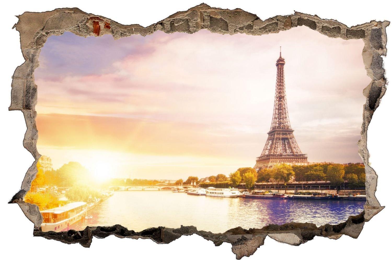 Paris Eiffelturm Frankreich Wandtattoo Wandsticker Wandaufkleber D0840 Größe 120 cm x 180 cm