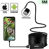 Endoscope USB, CLY OTG Endoscope Portable 5.5mm HD, 5M Avec 6 LED Adjustable, 2.0 Mégapixel Étanche IP 67 Caméra d'Inspection CMOS Pour Android, IOS, Tablette.