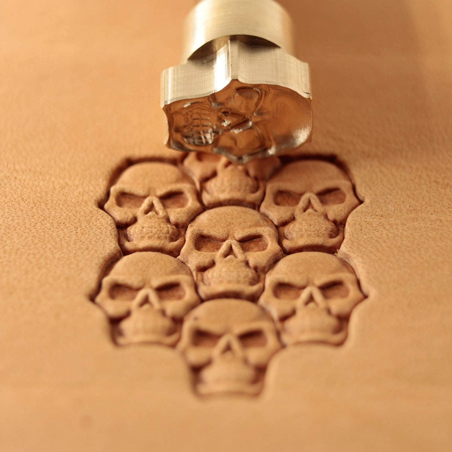 Skull Leather Stamp Tool Stamps Stamping Carving Punches Tools Craft Leathercrafting