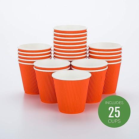 8oz//12oz Papel De Café Tazas desechables de una sola pared Para Frío//Tapas Picnic bebida caliente