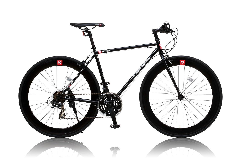 CANOVER(カノーバー) クロスバイク 700C シマノ21段変速 適応身長:160cm以上 CAC-024 (HEBE) ディープリム クロモリフレーム フロントLEDライト付 B012CCL07Uブラック