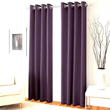 Amazon.com: Gorgeous Home (#60) 1 PANEL SOLID PURPLE THERMAL LINED ...