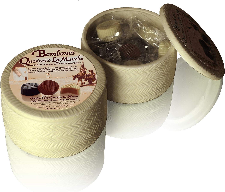 🎁 Original regalo caja de cerámica con forma de queso 🧀 y bombones de quesitos en su interior