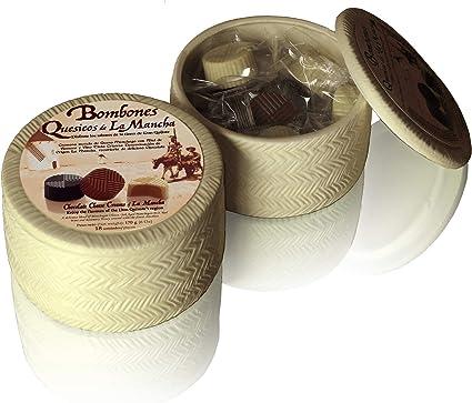 🎁 Original regalo caja de cerámica con forma de queso 🧀 y bombones de quesitos en su interior: Amazon.es: Alimentación y bebidas