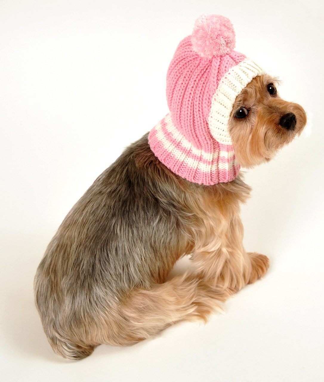 Hip Doggie HD-7CPP-S Small HD Crown Knit Hat - Pink